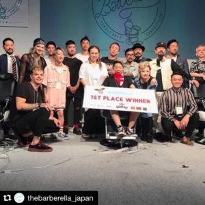 Barberella Japan Brosh Pomade Battle バーバレラ ジャパン ブロッシュ バトル 女性バーバー 東京ビックサイト